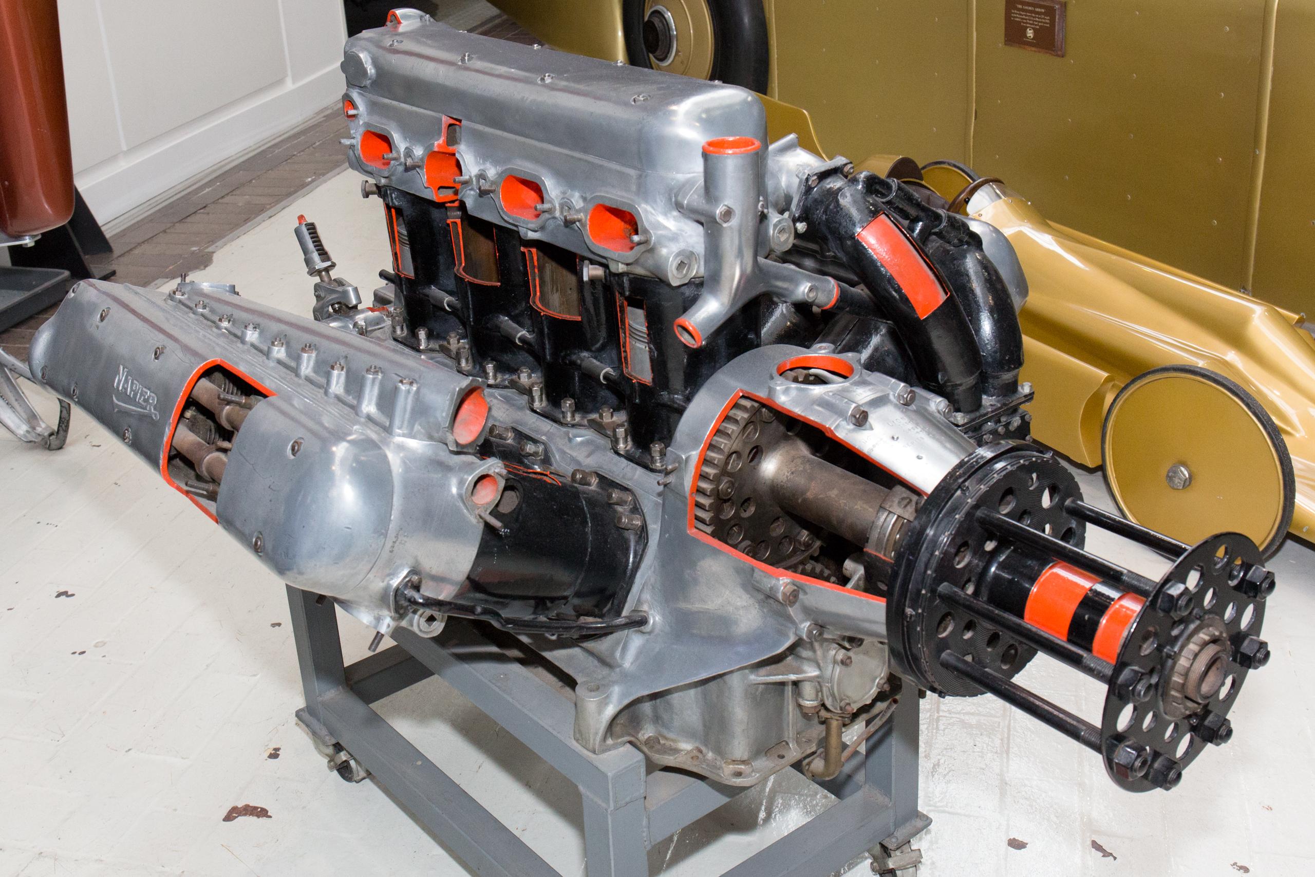 File:Napier Lion engine (cutaway) National Motor Museum, Beaulieu ...