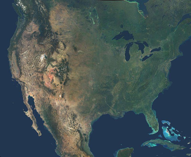 Maps Satellite Map North America: North America Satellite Map At Infoasik.co