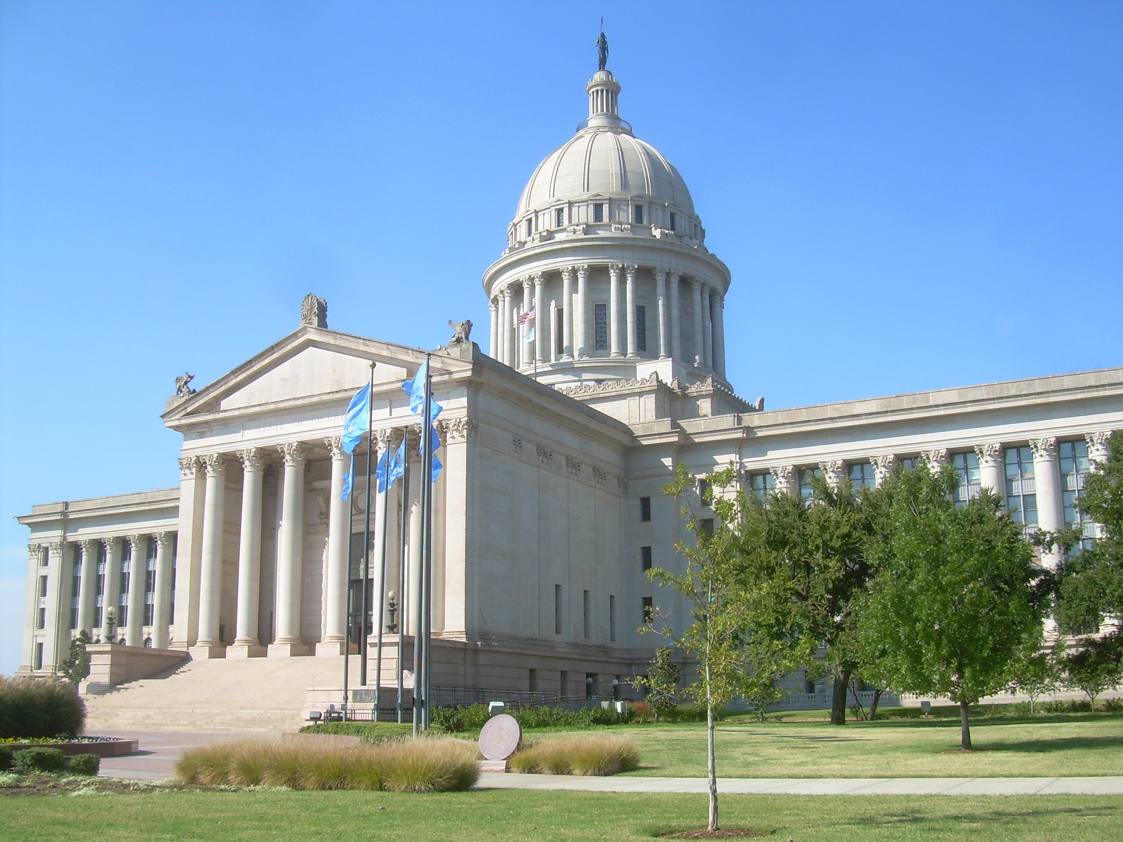 The Oklahoma State Capitol located in Oklahoma City.