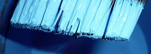 File:Paint brush dipped in blue paint.jpg