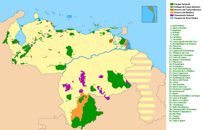 Parques nacionales de Venezuela  Wikiviajes