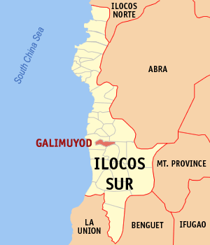 Mapa na Ilocos ed Abalaten ya nanengneng so location na Galimuyod
