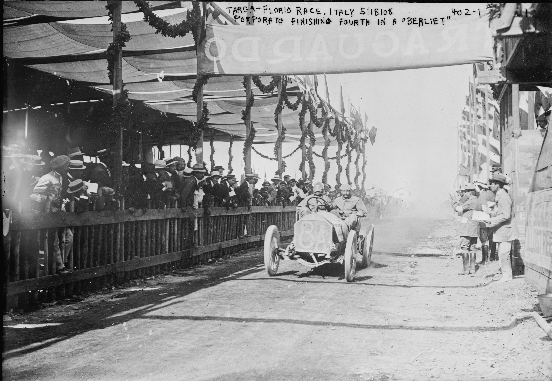 Nella foto: Jean Porporato, Targa Florio, 1908, Berliet