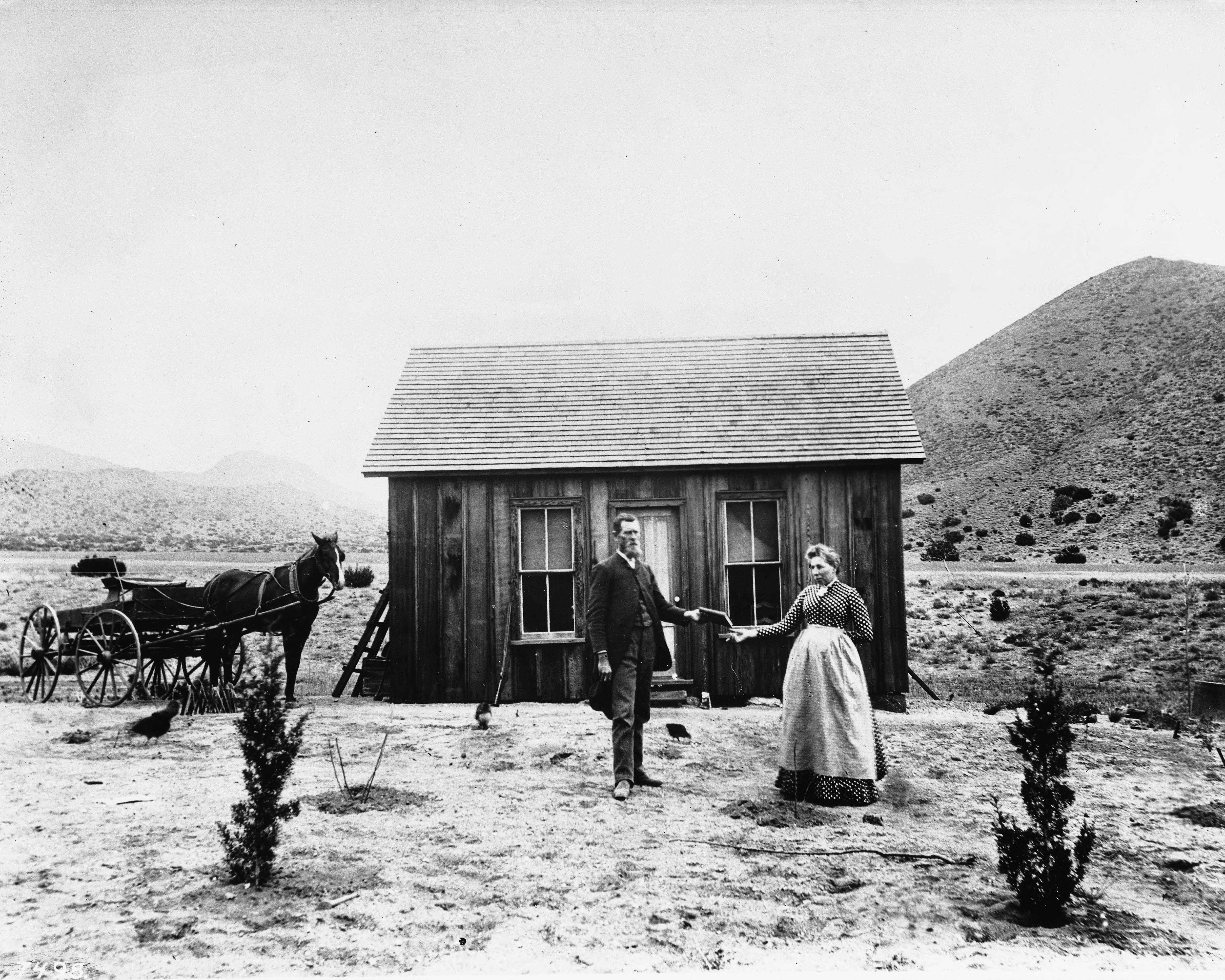 File:Portrait of a California homesteader receiving the ...