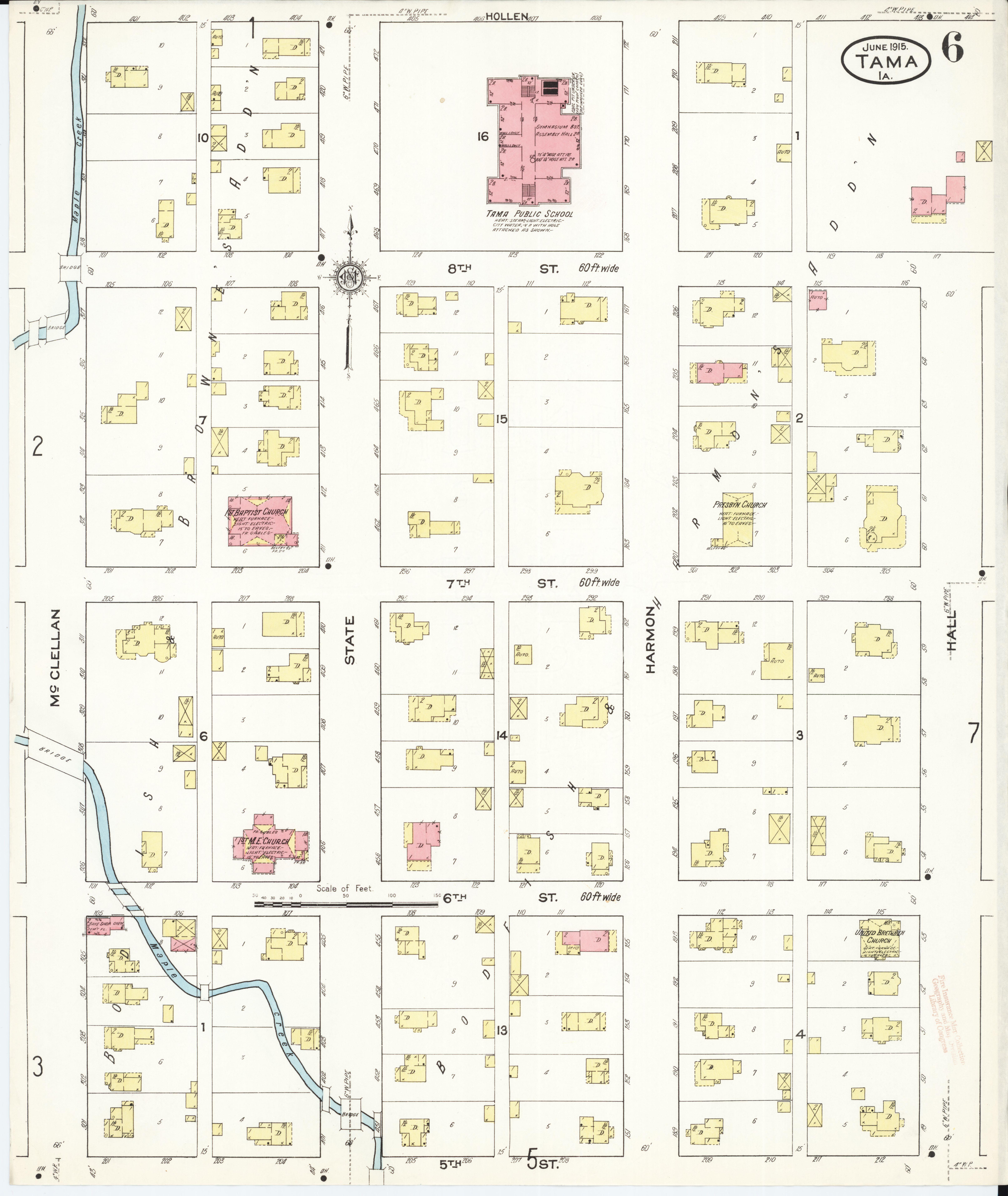 File:Sanborn Fire Insurance Map from Tama, Tama County, Iowa
