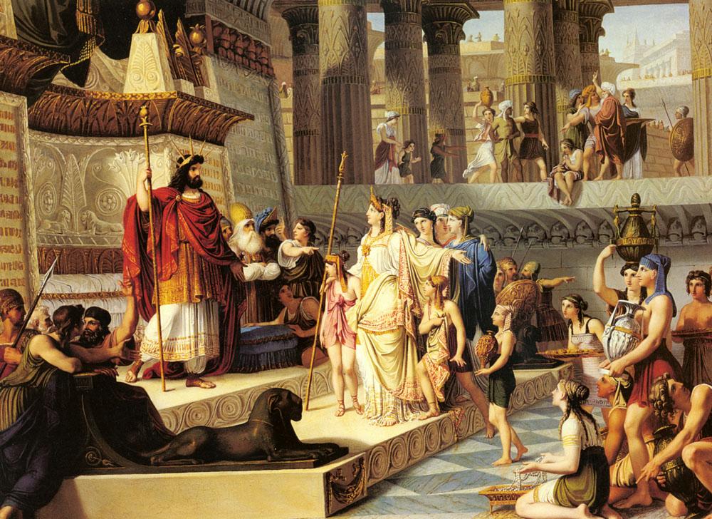 솔로몬 왕과 스바의 여왕 (지오바니 데민, Giovanni Demin, 1789~1859년)