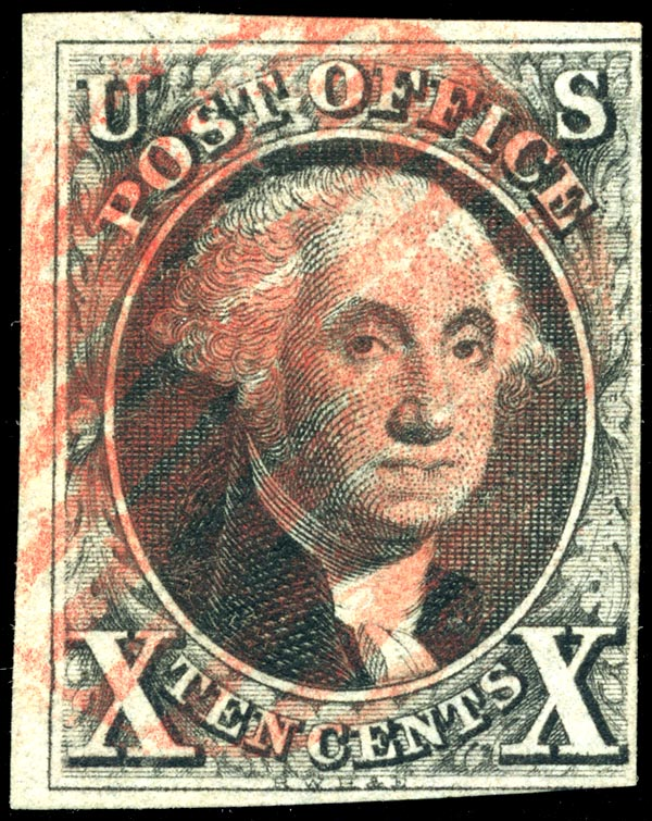 First Postage Stamp, 1847