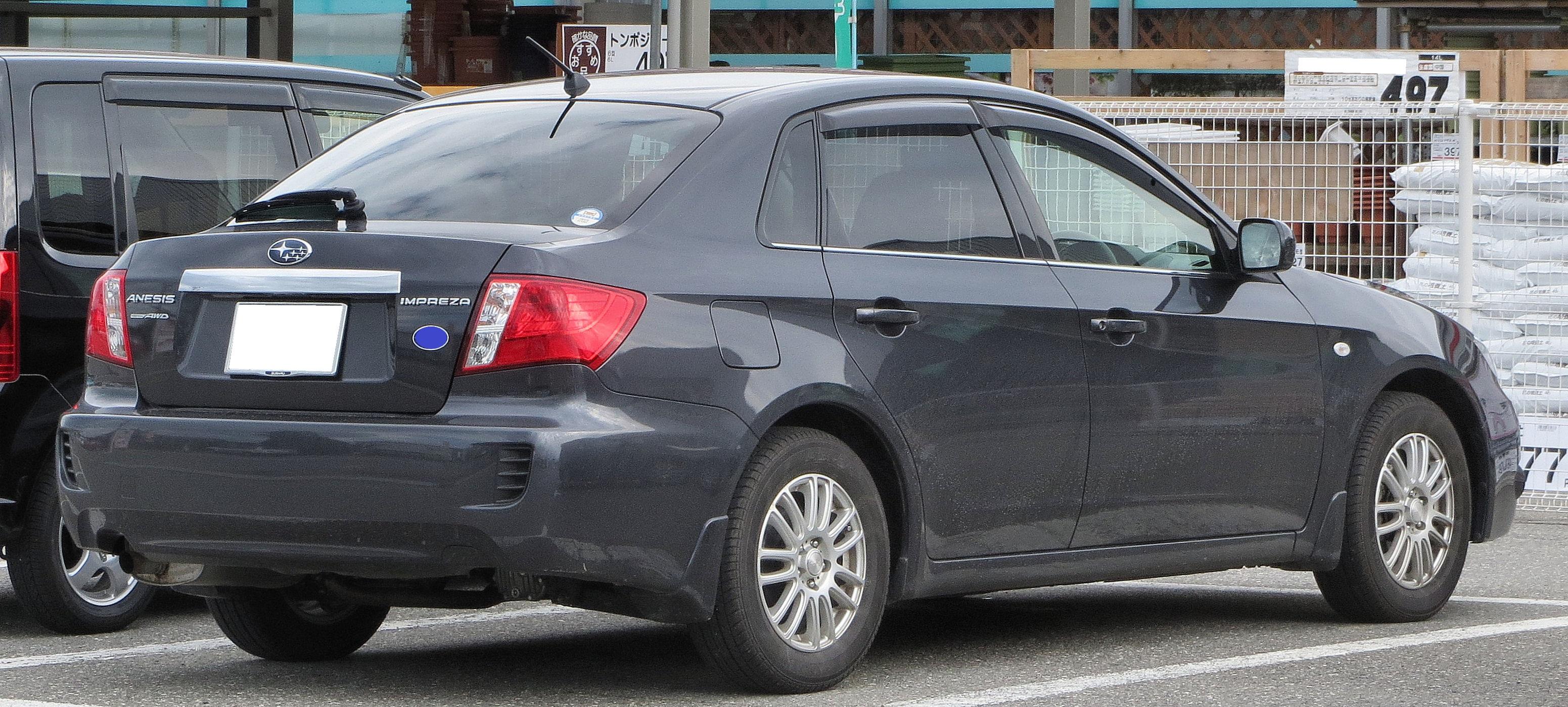 File Subaru Impreza Anesis 1 5i L Awd Rear Jpg Wikimedia