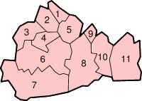 Location of Surrey