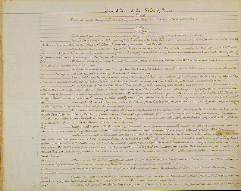 Constitution Of Texas Wikipedia