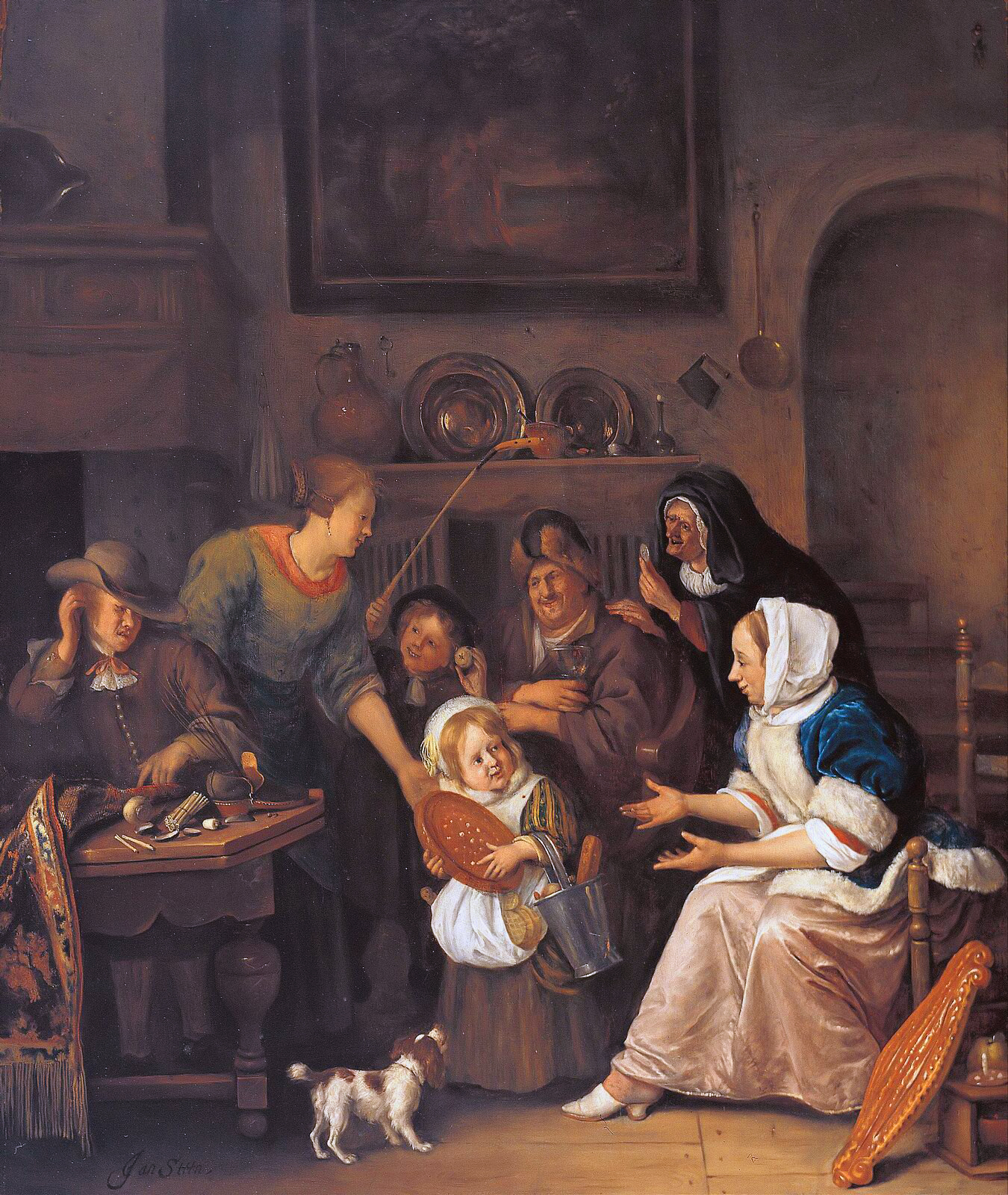 File the feast of st nicholas by jan for Interieur steen