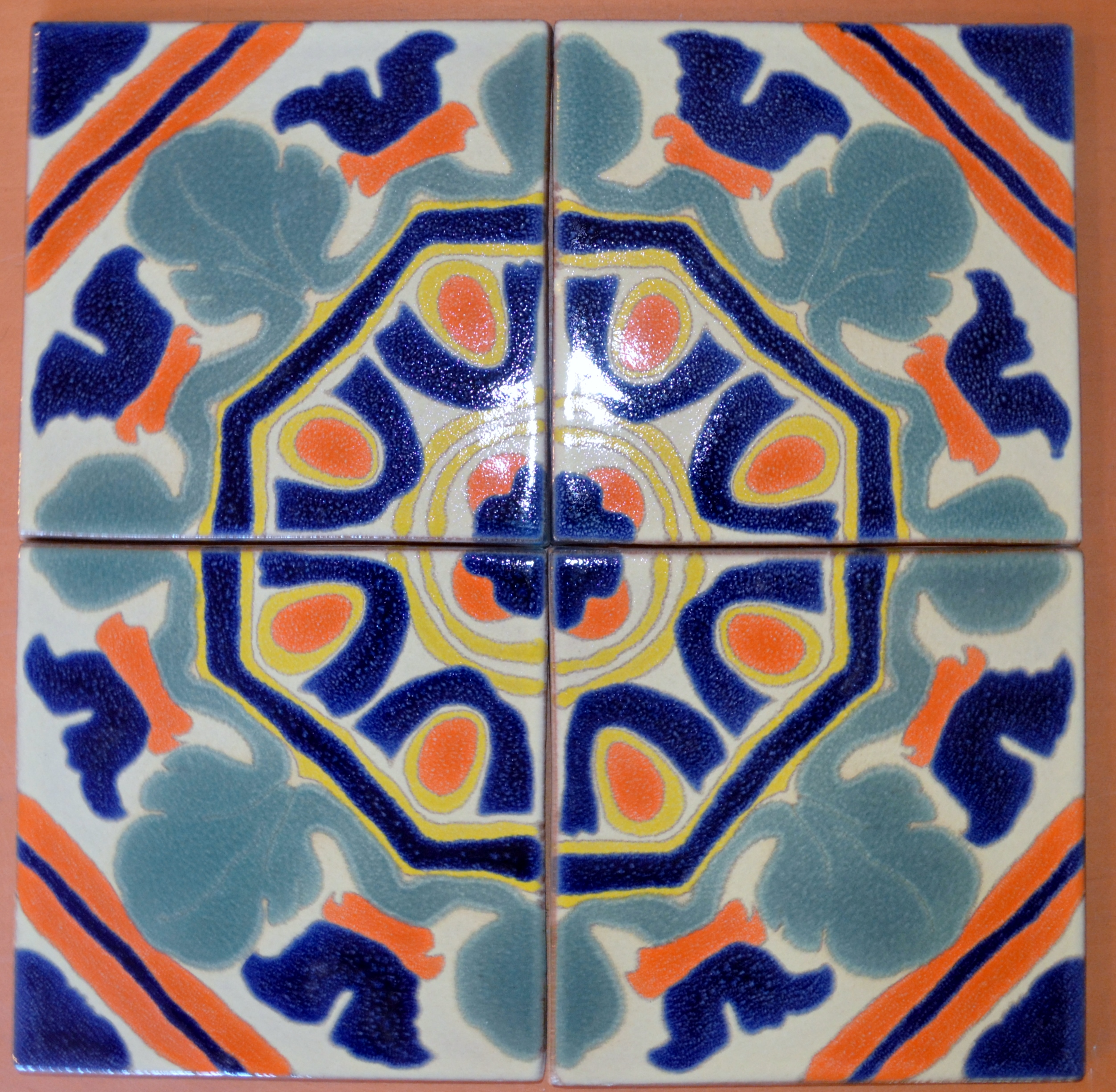 File:This 4-tile pattern illustrates very well the patterns of Hispano-Moresque
