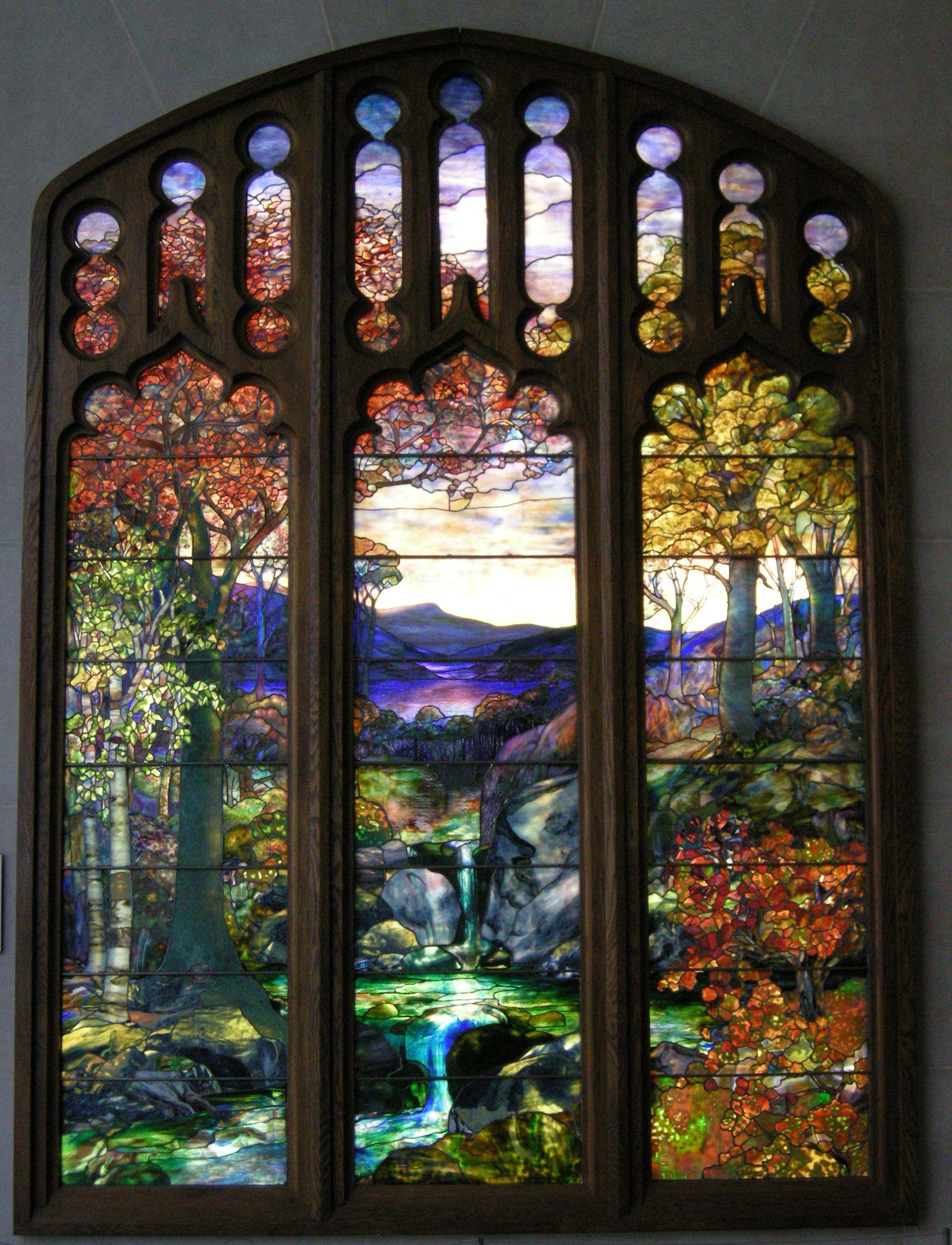 File Tiffany Autumn Landscape Jpg