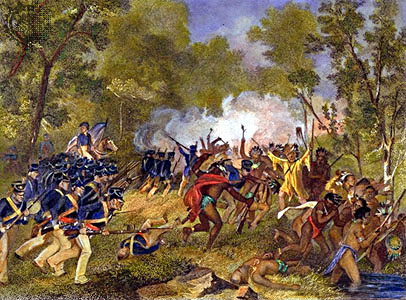 Battle of Tippecanoe, as painted by Alonzo Chappel and courtesy of the Smithsonian Institute