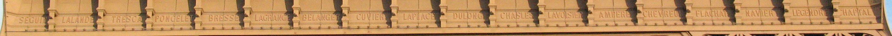 Navnerækken på nordvestsiden