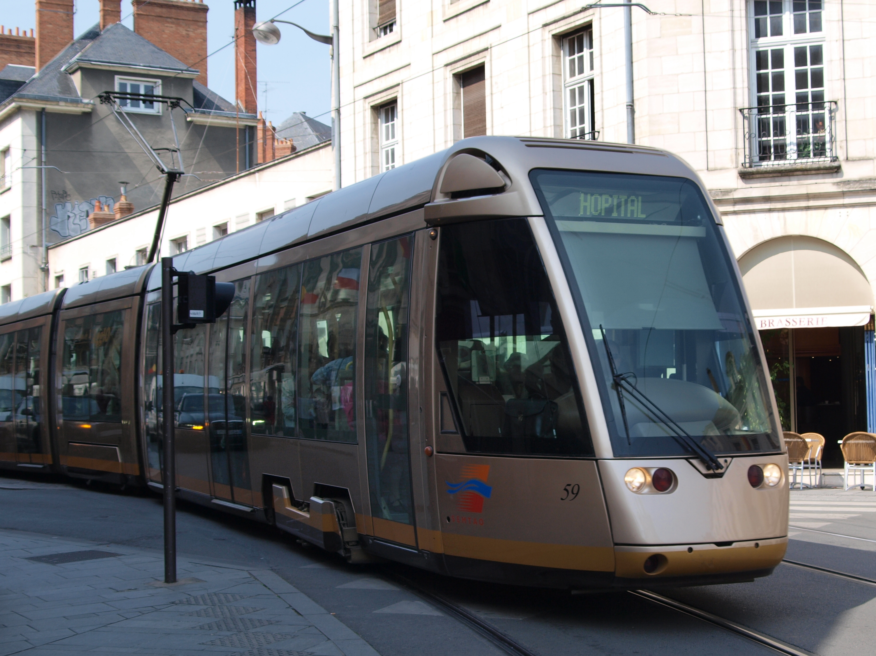 file tram at orleans france car 59 direction hopital jpg. Black Bedroom Furniture Sets. Home Design Ideas