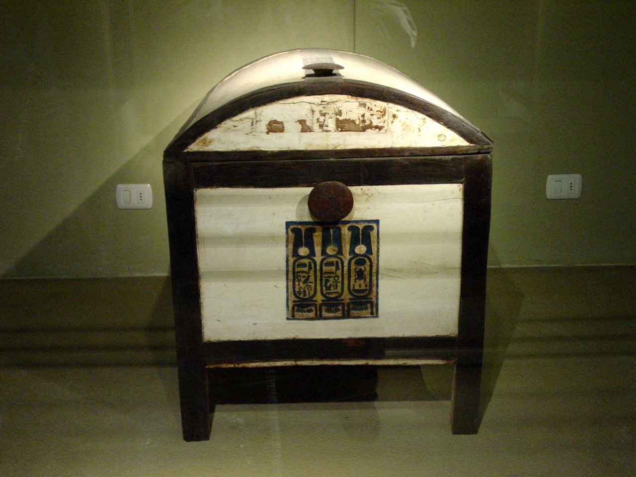 Tutankhamun's wooden chest from his tomb.
