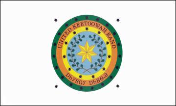 Flag of the United Keetoowah Band of Cherokee Indians