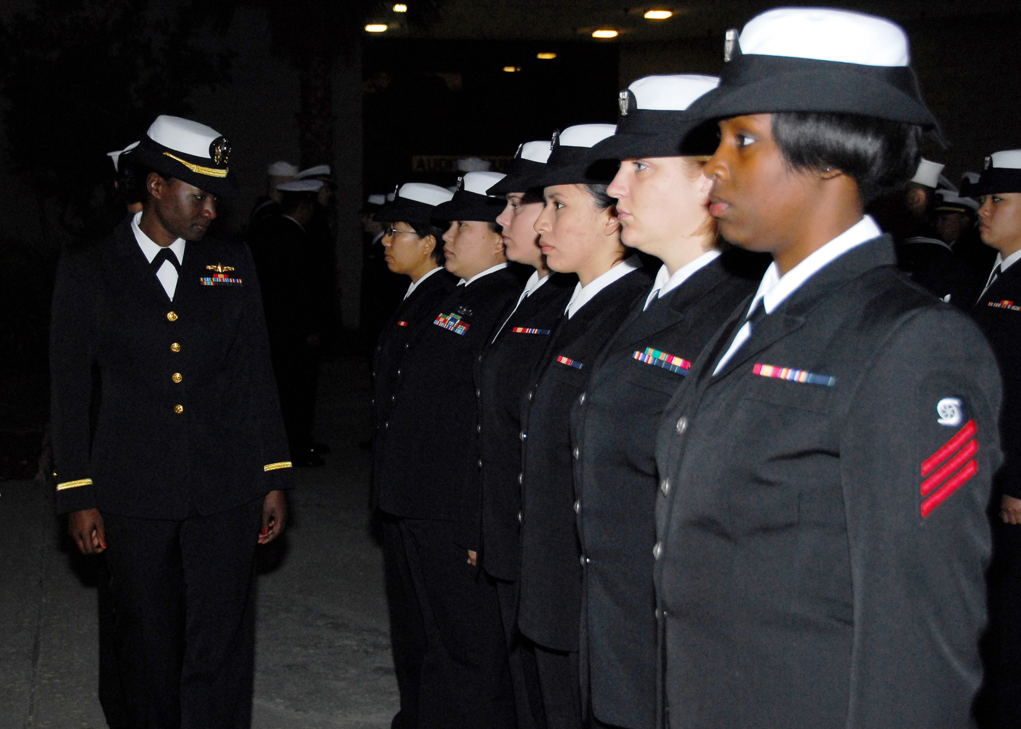 File:US Navy 081024-N-2565P-010 Ensign Ebony Miller inspects female ...