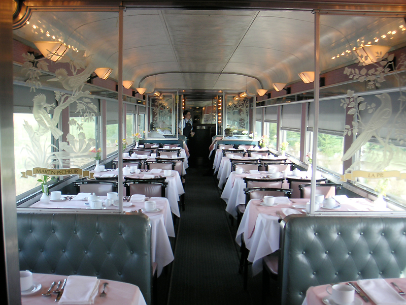 Image result for dining cart train