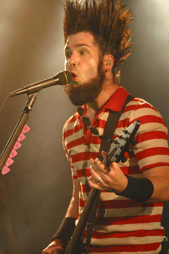 WAYNE STATIC. I actually did this a couple times, my hair is much longer