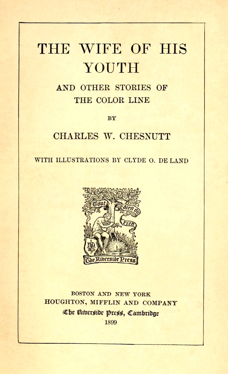 an analysis of the wife of his youth by charles wadell chesnutt