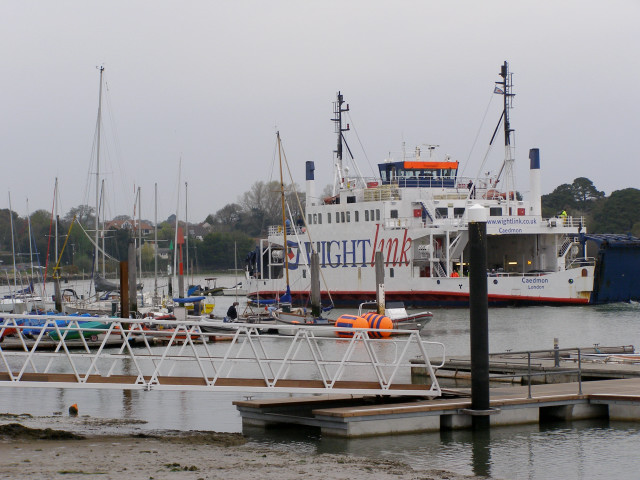 Wightlink ferry approaching the Lymington terminal - geograph.org.uk - 161421