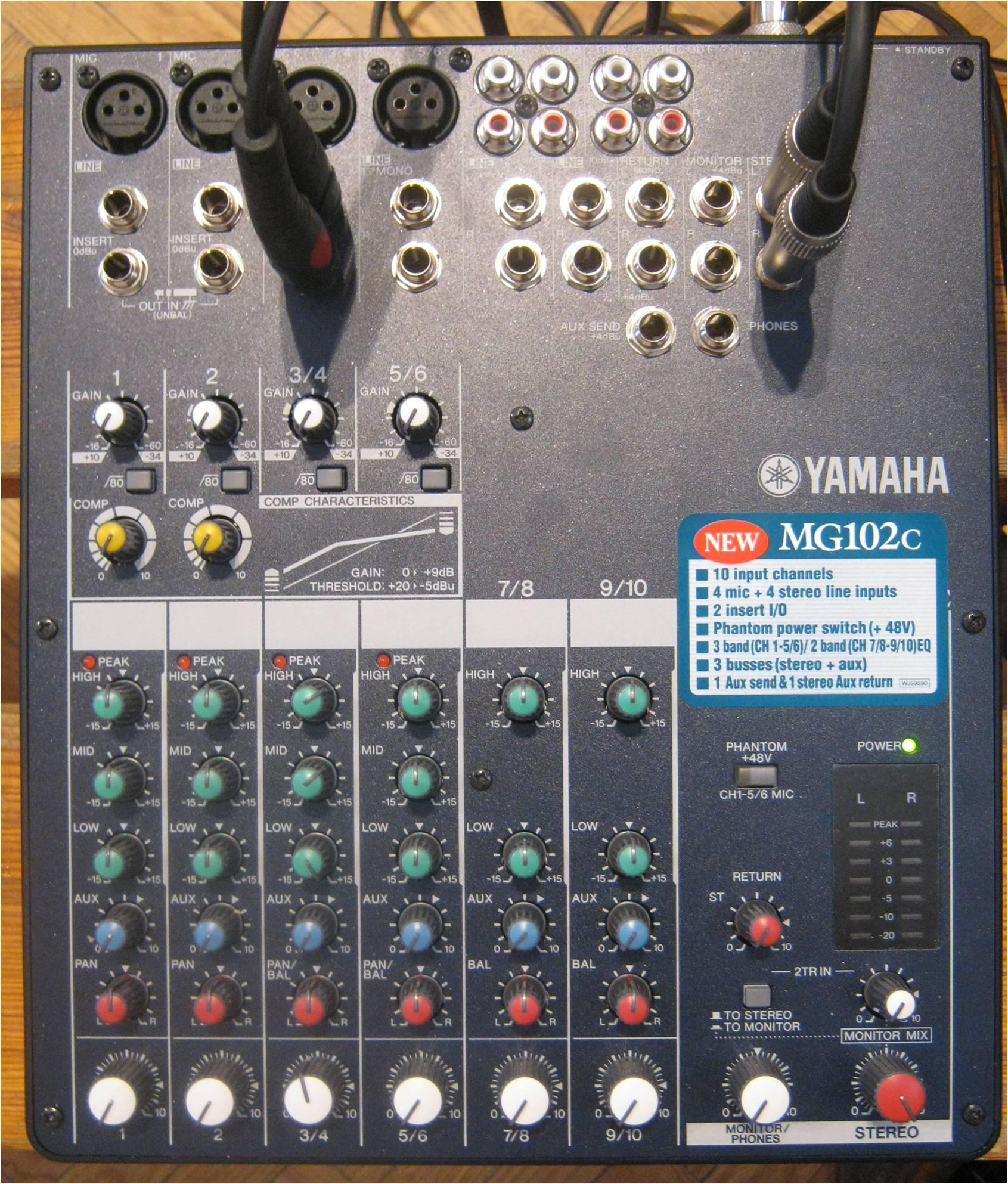 Yamaha Analog Mixer  Channel With Effects Rack Mountable