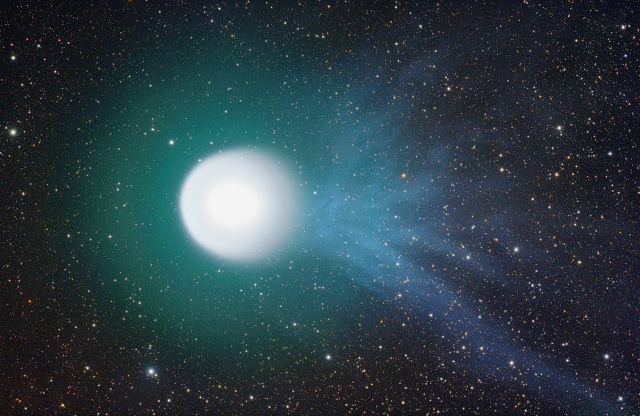 Comet with ion trail