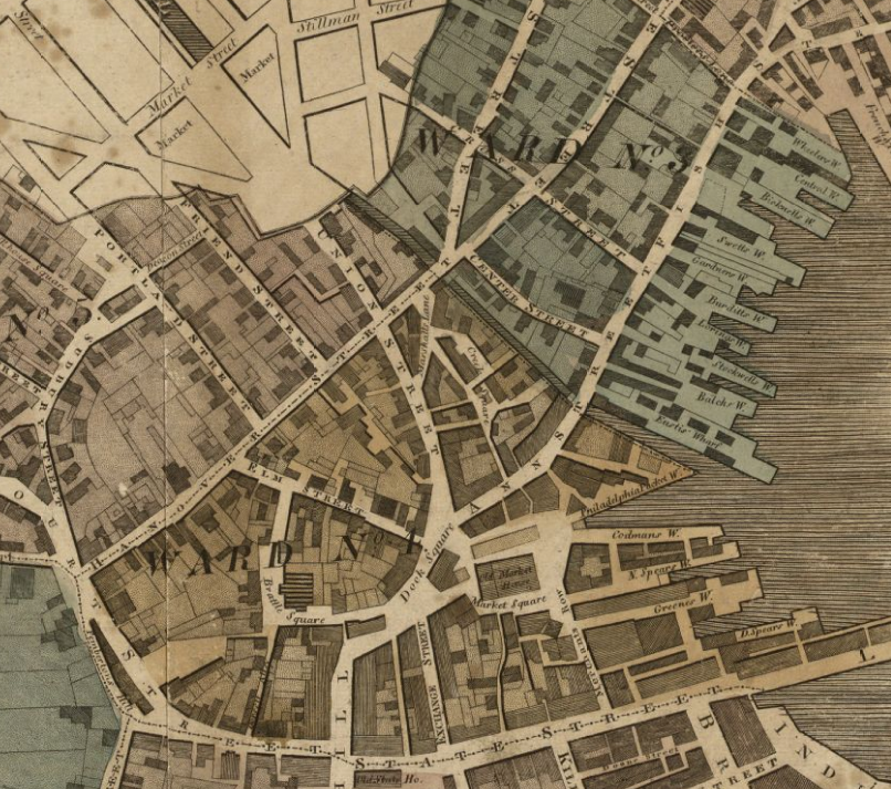 Maps images en 501hs 522 imaginary walks in old boston 1814 map of boston publicscrutiny Images