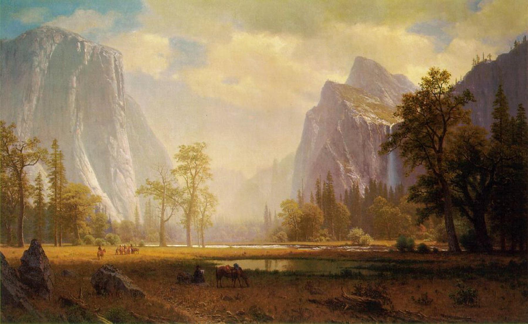 File:Albert Bierstadt - Looking Up the Yosemite Valley.jpg