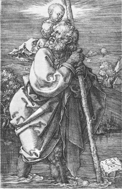 Saint Christopher Drawing st Christopher Facing to