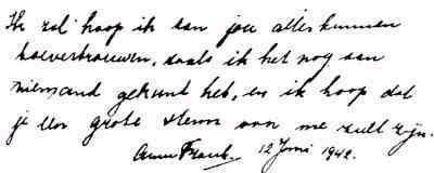 Ana Frank escritura1