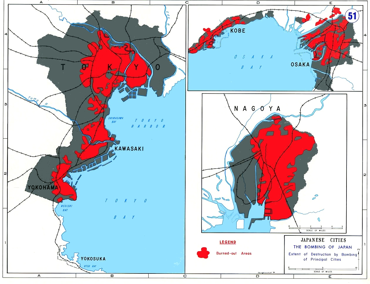 FileAreas Of Principal Japanese Cities Destoyed By US Bombingjpg - Japan map main cities