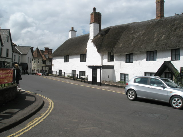 Bend in the road in the centre of Porlock - geograph.org.uk - 927924