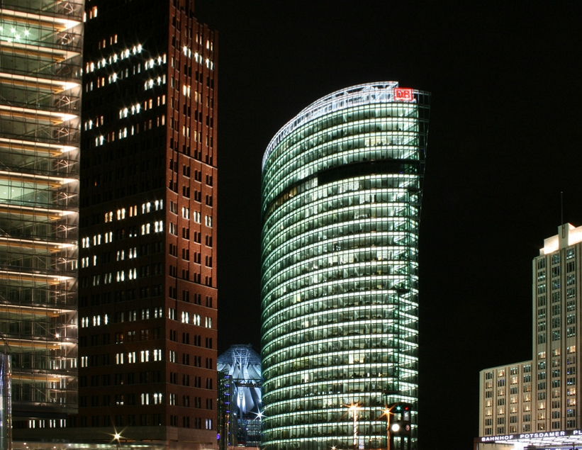 Berlin Potsdamer Platz at Night
