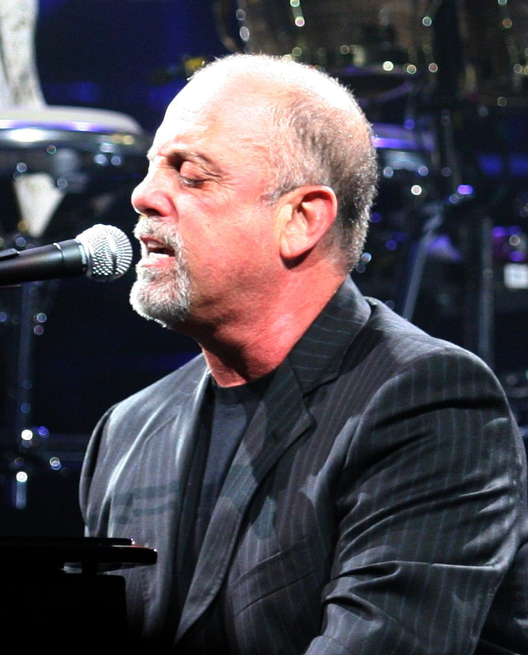 Billy Joel  - 2019 Grey hair & alternative hair style.