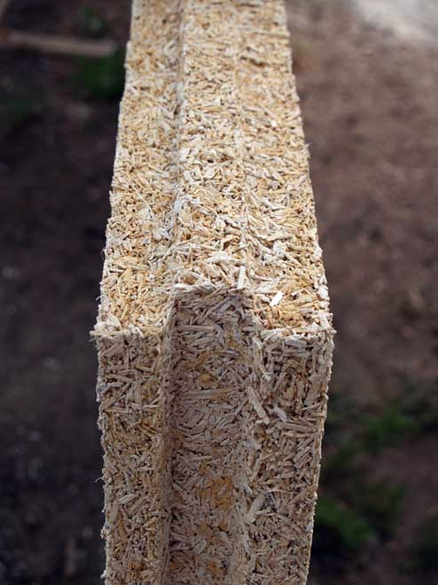 Thermal insulation brick made of hemp
