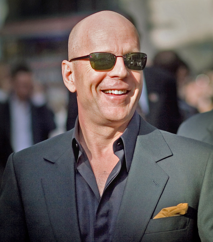 Bruce Willis Willis at a Live Free or Die