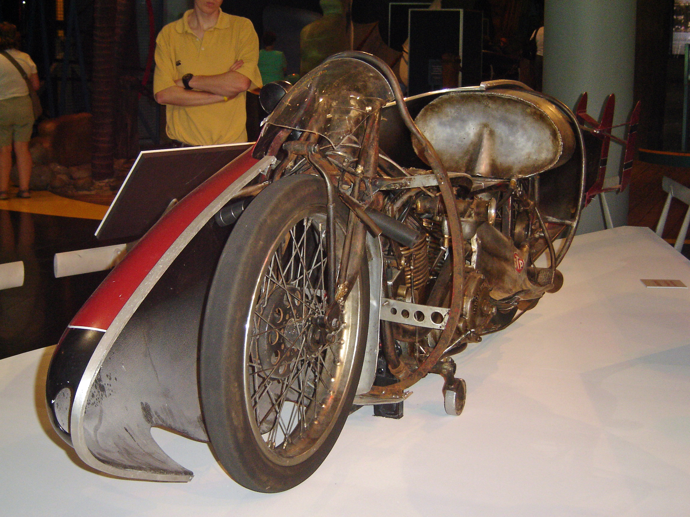 It may not look like much, but Bert Munro's modified 1920 Indian set a land speed record in 1967.