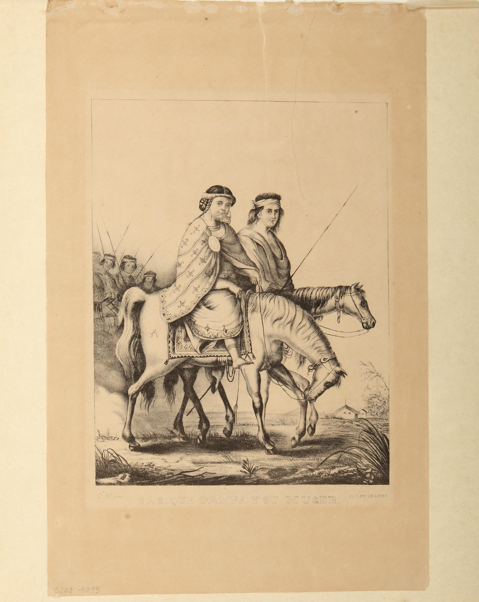 Cacique pampa y su mujer