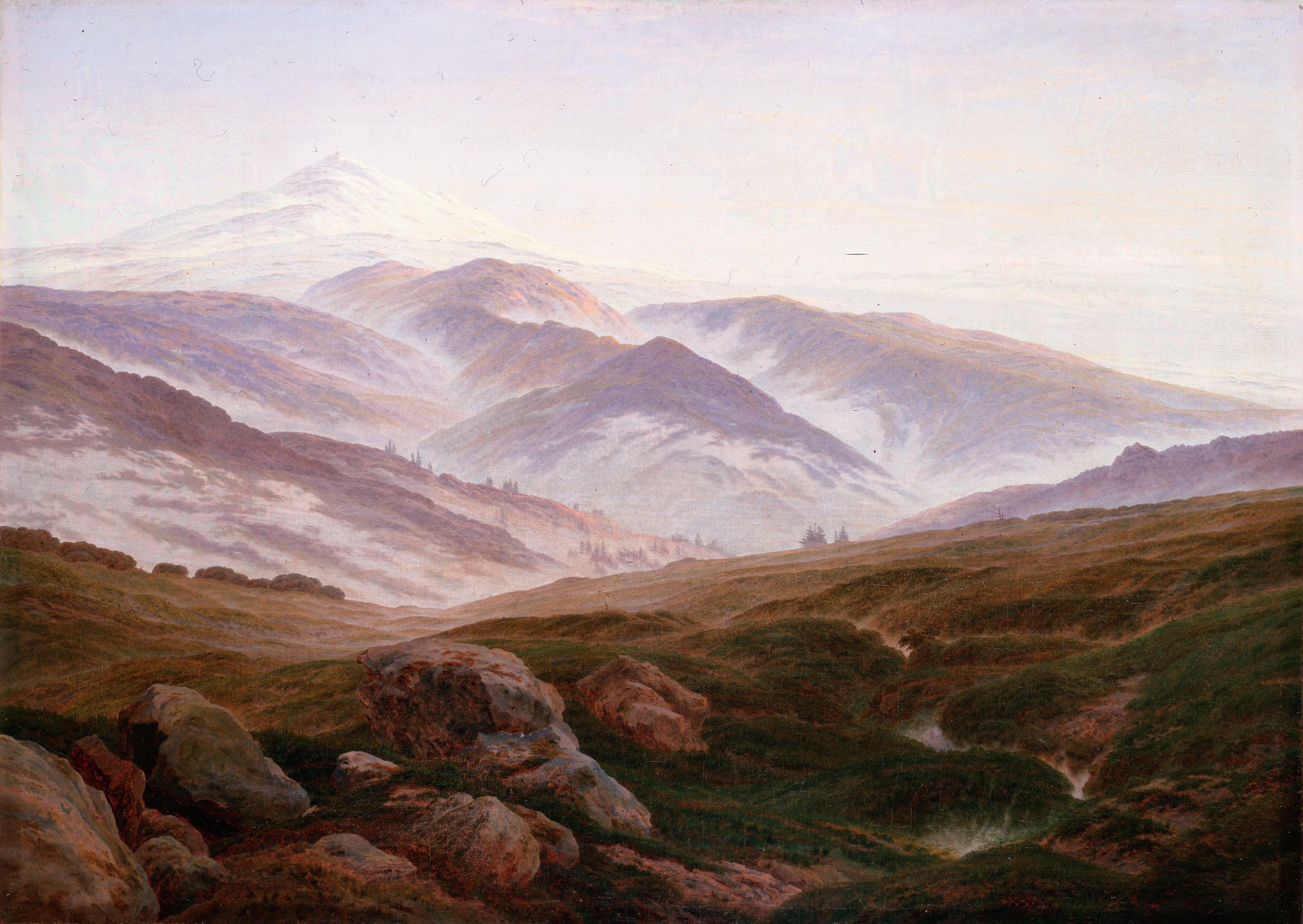An image of 'Memories of the Giant Mountains' by Caspar David Friedrich