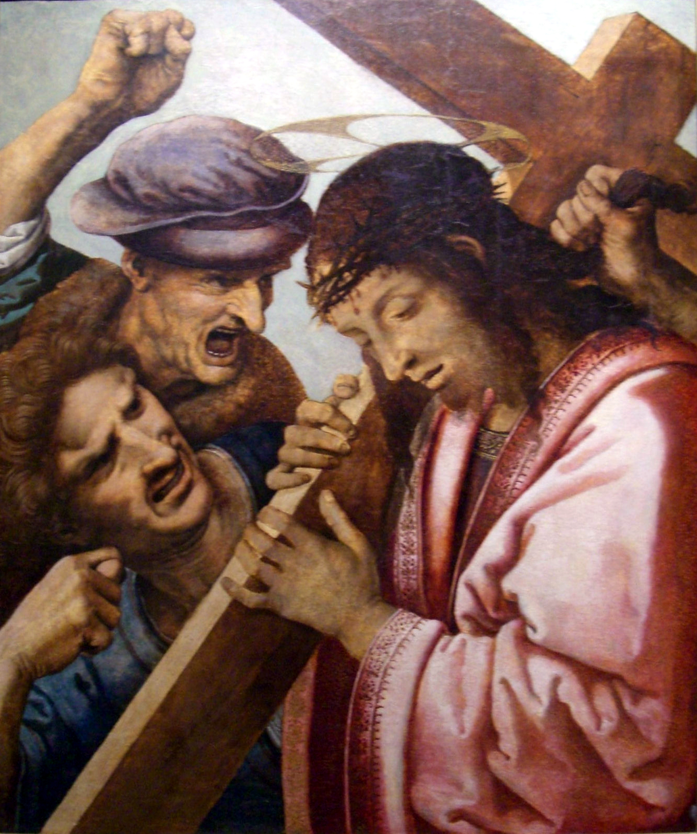 file christ carrying the cross cropped jpg wikimedia commons