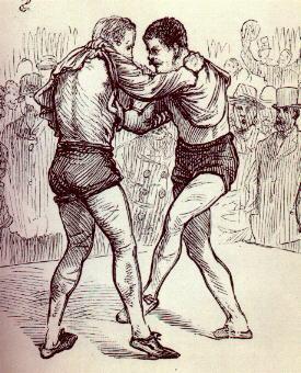 illustration of coraíocht - Irish Coraíocht (Collar and Elbow)