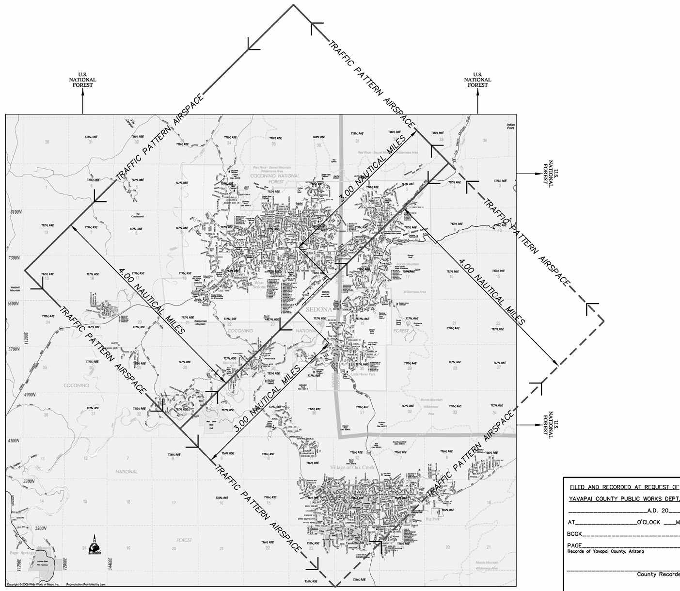 PLAT for Airport Traffic Area Actual Dimensions published by Yavapai County - CLICK to See Full Document