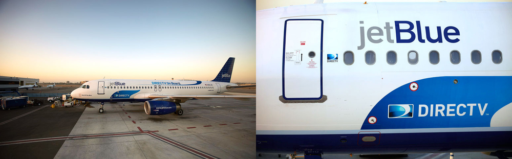 DirecTV on board a jetBlue plane.