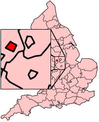 Derby shown within England
