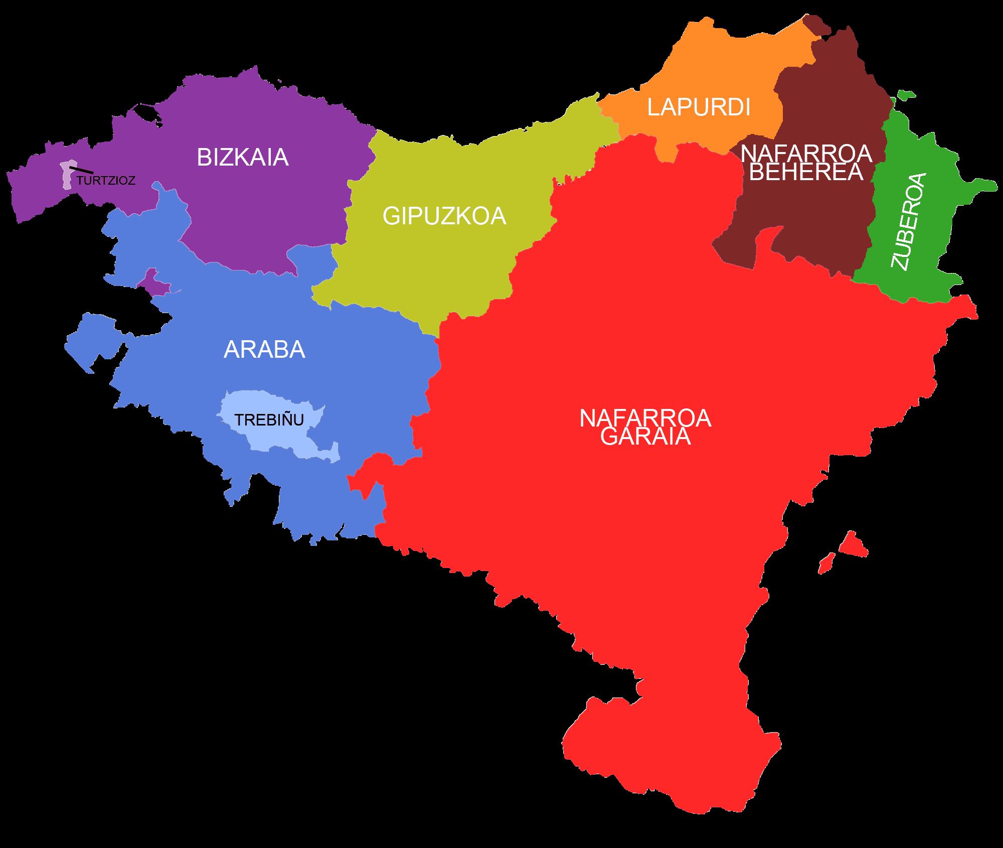 pais basco mapa File:Euskal Herriko mapa koloreztatua.png   Wikimedia Commons pais basco mapa