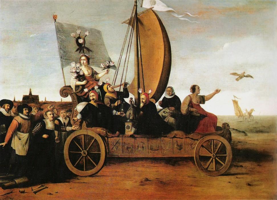 Flora's Malle-wagen van Hendrik Pot (1640)