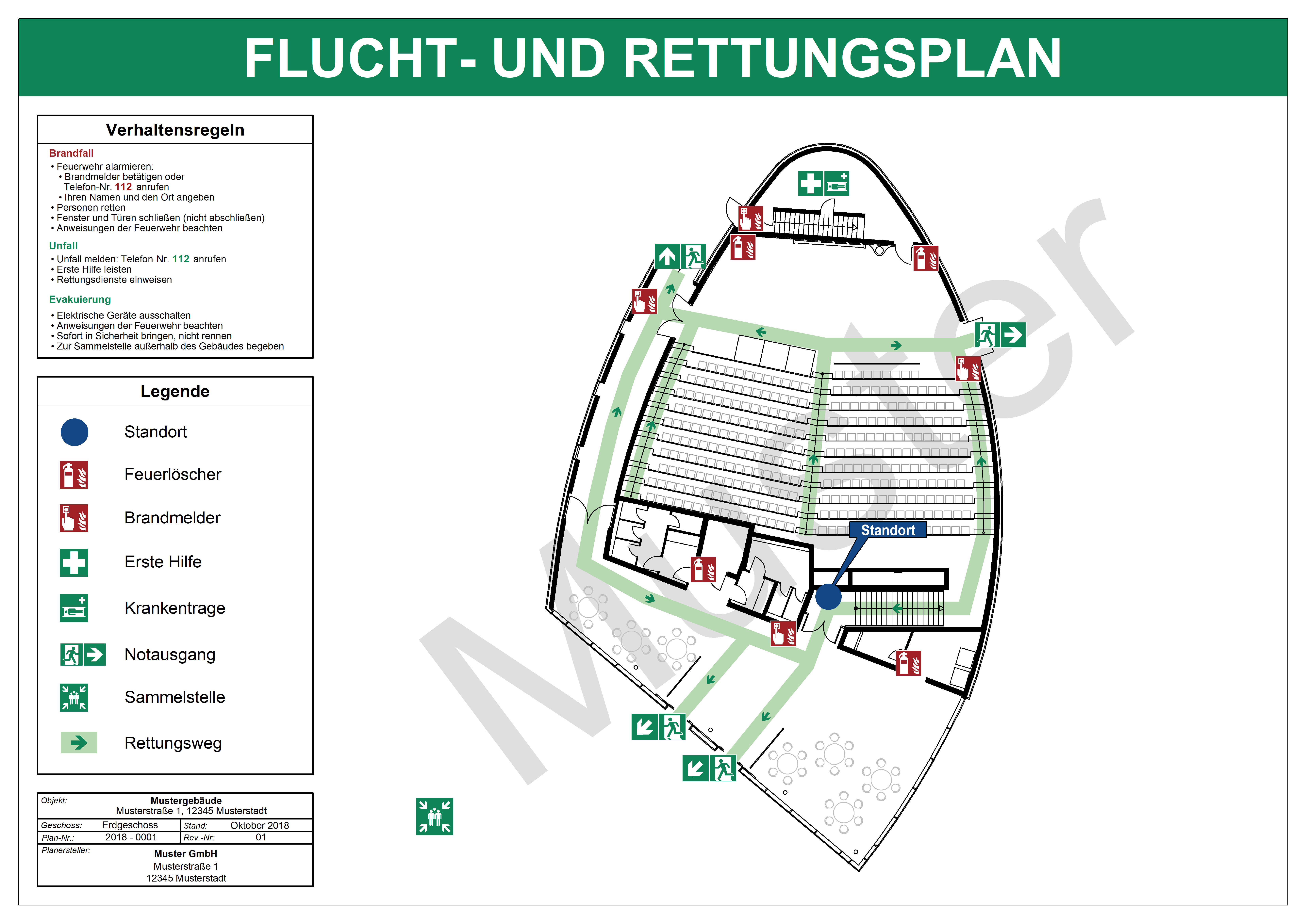File Flucht Und Rettungsplan Din Iso 23601 Muster Png Wikimedia Commons